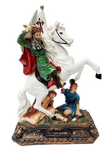 12'' Inch St James Santiago Statue Saint Santo San Figurine Jaime Spain Religious by adep