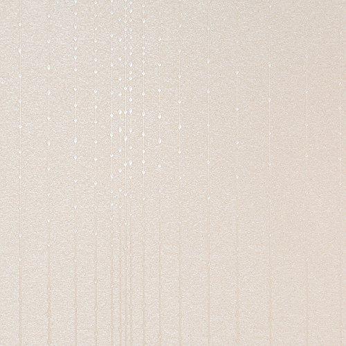 Textured Art Wallpaper (Gleam Beige Modern Wallpaper for Walls - Double Roll - By Romosa Wallcoverings LL7511)