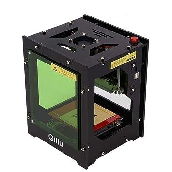 Qiilu Laser Graviermaschine 1500mw Gravur USB Drucker Lasergravierer Mit Augenschutz Magnetfolie Fur Win XP