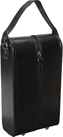 AmeriLeather Leather Double Wine Case Holder
