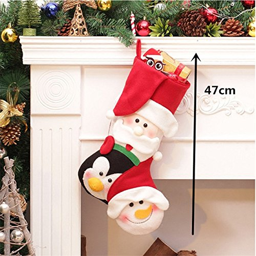 Bells & Sleigh Bells - Christmas Decorations - Christmas Stockings - Christmas Stocking Clothes Santa Socks Christmas Gift For New Year Candy Gift Bags For Kids - Christmas Gift( 4)