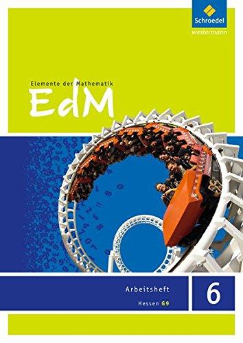 Elemente der Mathematik SI - Ausgabe 2013 für G9 in Hessen: Arbeitsheft 6 Broschüre – 1. November 2013 Schroedel Verlag GmbH 3507885468 Schulbücher 6.Lernjahr