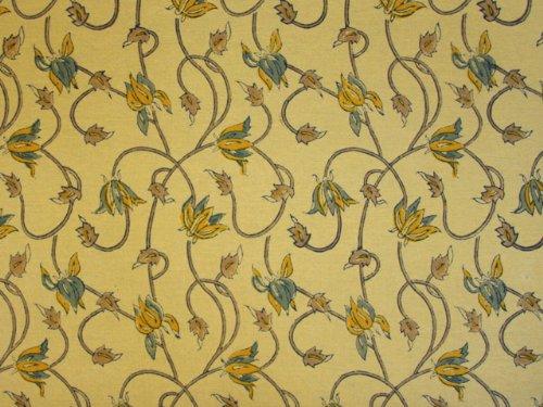 Saffron Marigold Waltz of the Vines ~ Yellow Floral Summer Cotton Beach Twin Duvet 70x90
