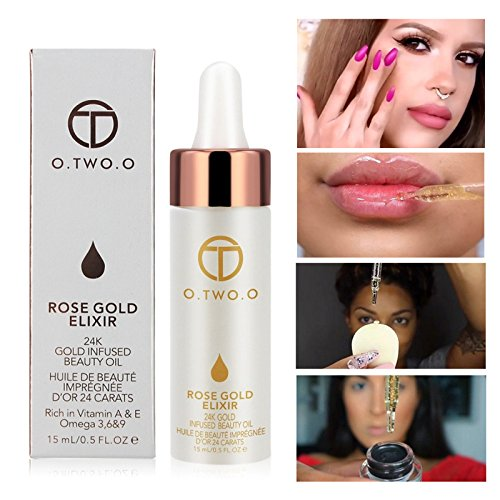 Hot 24k Rose Gold Elixir Skin Make Up Oil For Face Essential Oil Before Primer Foundation Moisturizing Face Oil Anti-aging by Bao Te' (Image #9)