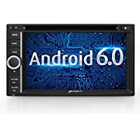 6.2 Android 6.0 Car Stereo, Bluetooth for Hands Free Calling, GPS Navigation DVD CD Player, 64GB USB SD 3G WIFI OBD2 CAM-IN Phone Mirror, Subwoofer Audio Output
