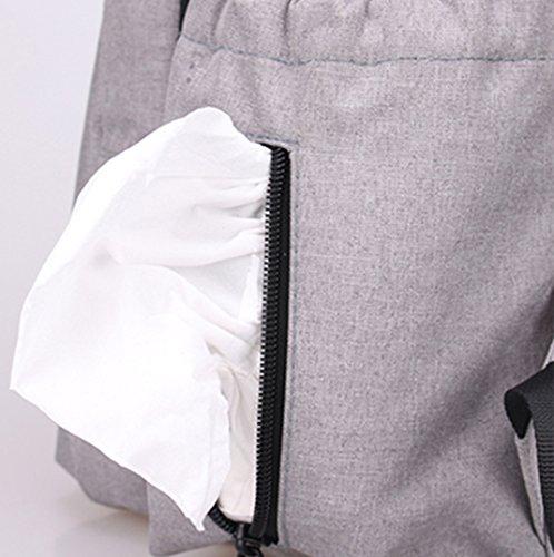 Coreano de gama alta de hombro Bolso de mamá, multi-funcional de gran capacidad bolsa de bebé madre de la madre, las mujeres embarazadas que se producen paquete ( Color : Gris ) Negro