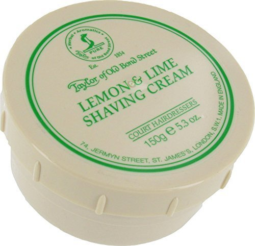 Taylors Of Old Bond Street Lemon & Lime Shaving Cream Tub by Gentlemans Gifts Online