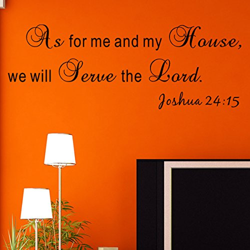 Pop DecorsWe Will Serve The Lord-Joshua 24:15 Wall Stickers