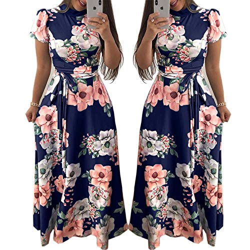5XL Plus Size Summer Dress Women Turtle Neck