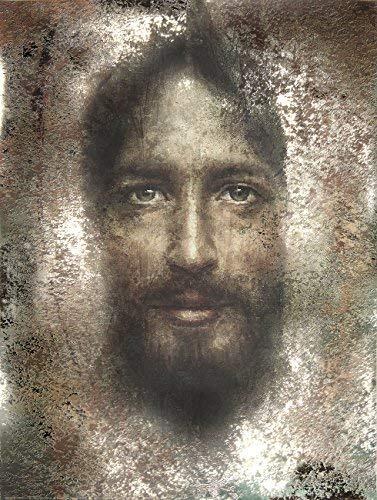 Sacred Shroud Jesus Face - Religious Wall Art Print Poster (27x40)