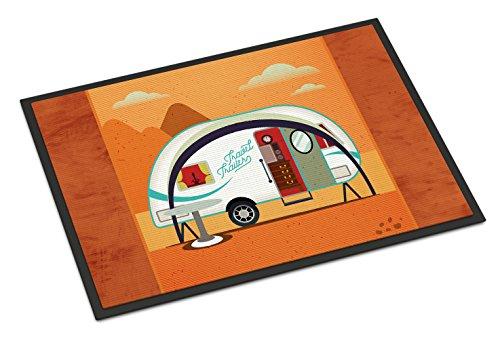Caroline's Treasures BB5480MAT Greatest Adventure New Camper Doormat, 18 x 27, Multicolor