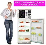 XOXO Parents Magnetic Dry Erase Weekly Kitchen Menu Board for Fridge - Plan Meals, Diet, to-Do List, Fitness and More