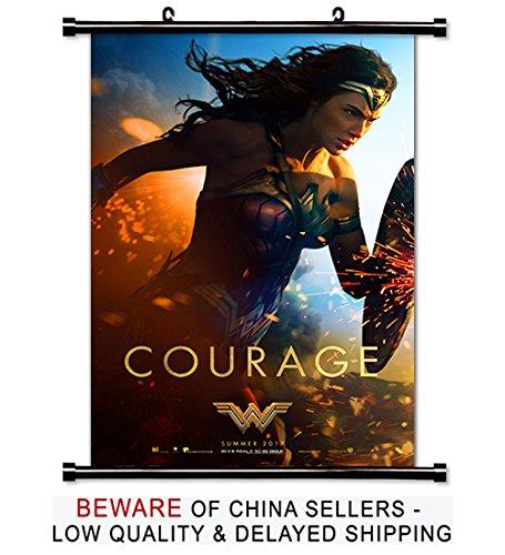 Wonder Woman Gal Gadot 2017 Movie Fabric Wall Scroll Poster