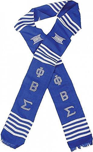 - Phi Beta Sigma Sorority Graduation Kente Stole Sash [Blue - 72