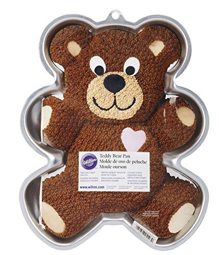 Wilton Teddy Bear Cake Pan, Kids 3D Birthday Cake Pan (Teddy Supreme)
