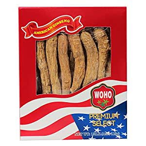 WOHO American Ginseng 100.4, Long Large XL Cultivated Roots 4oz
