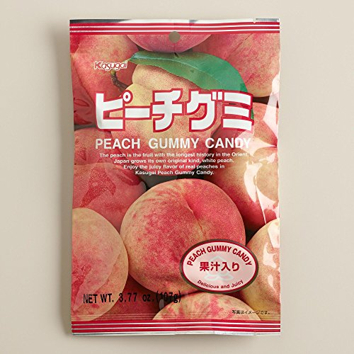 Japanese Fruit Gummy Candy from Kasugai - Peach - 107g