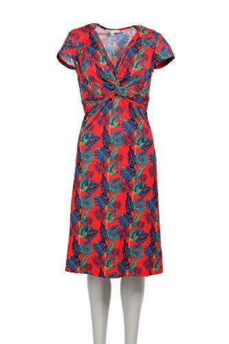 Damen Sommerkleid Eisemann Figurbetont Grün Tolles Orange Orange Ellen tqvCwE