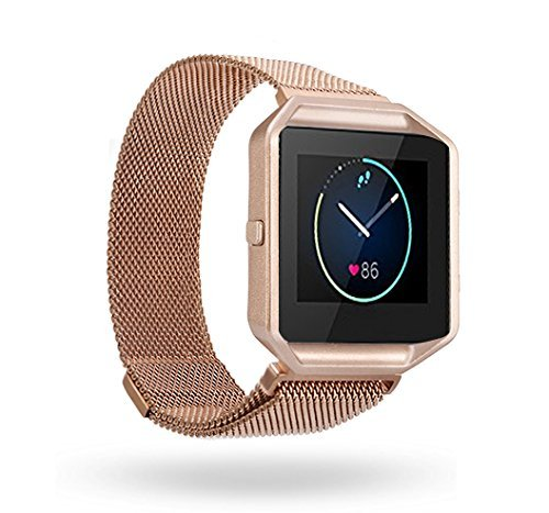 BeneStellar Fitbit Blaze Band, Milanese Band With Frame for Fitbit Blaze Smart Fitness Watch by BeneStellar