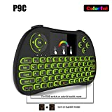 Wireless Keyboard, Tripsky P9+ 2.4GHz Colorful Backlit Handheld Wireless Remote Mini Keyboard, with Touchpad Mouse for Android TV Box, Windows PC, HTPC, IPTV, Raspberry Pi, XBOX 360, PS3, PS4(Black)
