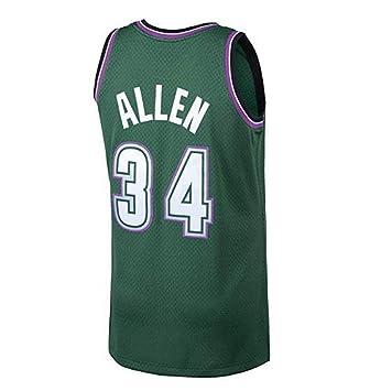 wholesale dealer b7a2a 908ca CCKWX Men's Basketball Jerseys - NBA 34# Ray Allen Heat Team ...