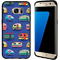 Vintage Camper Print On Blue For Samsung Galaxy Edge G935 Case Cover by Atomic Market