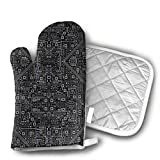 Evil Robot Circuit Board (Black and Gray) Heat Resistant Kitchen Oven Mitt with Non-Slip Printed, Set of 2 Oven Gloves for BBQ Cooking Baking, Grilling, Barbecue,Microwave, Machine Washable. Review