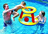 Pool Central Inflatable Swimming Pool Water Sports Basketball Game Set, Red Yellow/Blue, 29'