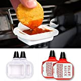 Adealink 2Pcs Saucem Dip Clip in-car Sauce Holder for Ketchup Dipping Sauces