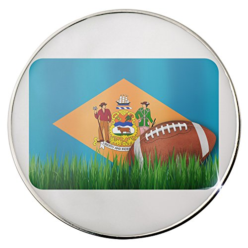 Floating Plate Charm for Glass Locket - Football with Flag Delaware region America (USA) backplates by - Backplate Football America