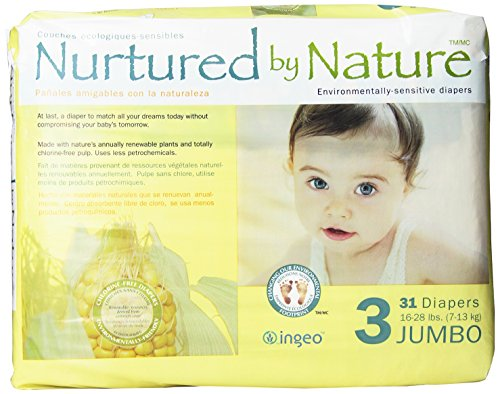 Nurtured by Nature Environmentally-Sensitive Diapers, Jumbo Size 3, 31 Count  (Pack of 4)