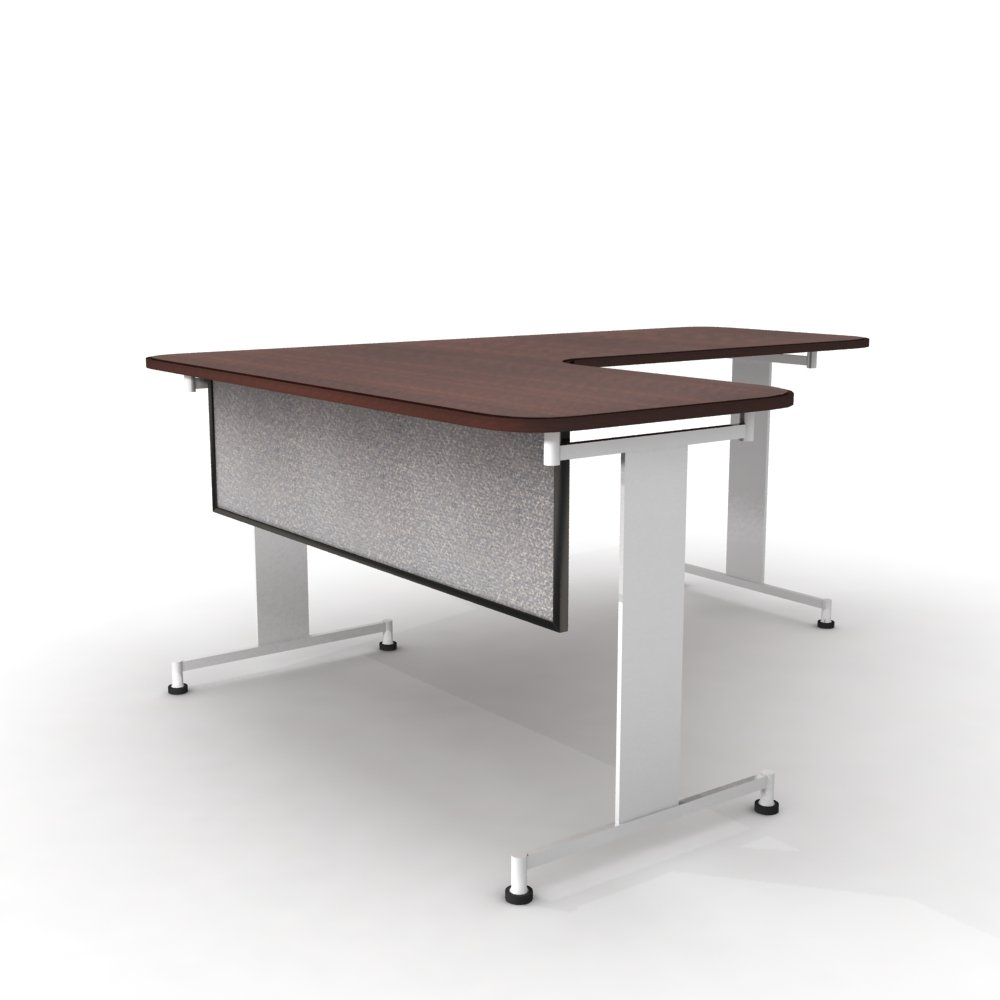 Obex 18X48A-B-PA-MP 18'' Acoustical Desk and Table Mounted Modesty Panel, Parids, 18'' x 48''