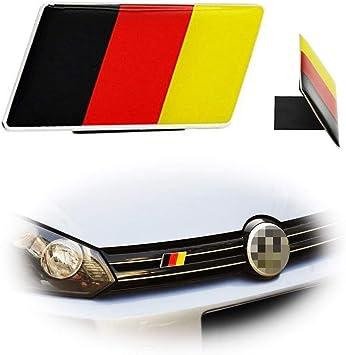 iJDMTOY Aluminum Plate Germany Flag Emblem Badge For Germany Car Front Grille...