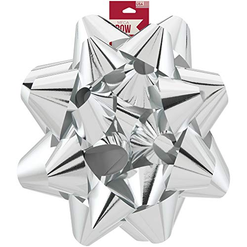 Berwick Offray Giant Silver Christmas Bow, 11.75