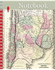 Notebook: 1855, Colton Map of Argentina, Chile, Paraguay and Uruguay