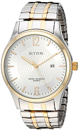 Sutton by Armitron Men's SU/5007SVTT Date Function Two-Tone Expansion Band (Armitron Stainless Steel Bands)