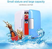 4 Liter Capacity With 12V Car Charger Womdee Mini Fridge For Car Blue RVs Camping Portable Ice Box For Cars Electric Car Refrigerator With Cooler And Warmer Road Trips