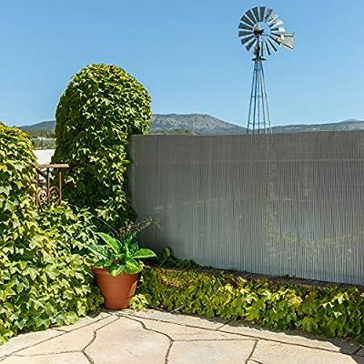 Lola Home Lola Derek Cañizo Artificial de ocultación para jardín, Gris, 300x150x20 cm: Amazon.es: Jardín