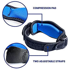 Tennis Elbow Brace - Set of 2 Adjustable Elbow Tendonitis Braces - Unparalleled Tennis Elbow Support - Pain Relief - Velcro Straps - Built-in Compression Pad - Perfect Fit for Everyone