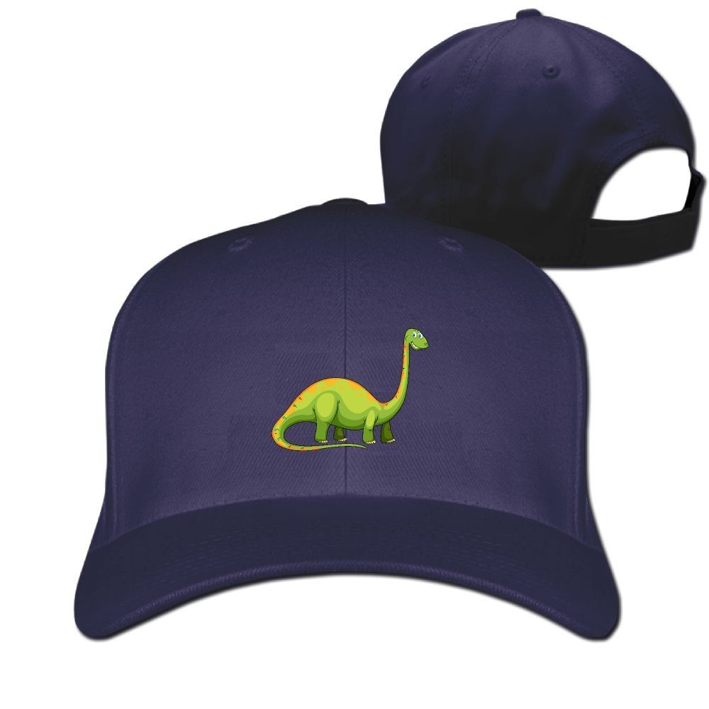 Long Neck Dinosaur Unisex Sandwich Snapback Cap Solid Color Hats