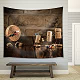 wall26 - Concept Gaming Dart with Wine Cork Figures - Fabric Wall Tapestry Home Decor - 68x80 inches