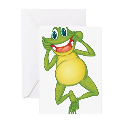 Amazon cafepress frog with big smile greeting cards cafepress frog with big smile greeting cards greeting card note card birthday m4hsunfo