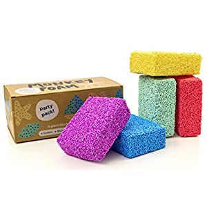 Monkey Foam - 5 Giant Blocks in 5 Great Colors - Perfect for Creative Play - 51bhzUFBRML - Impresa Monkey Foam – 40% More Than The Competitor's Combo Party Pack – 5 Giant Blocks in 5 Great Colors – Perfect for Creative Play – Classroom Pack – Never Dries Out!