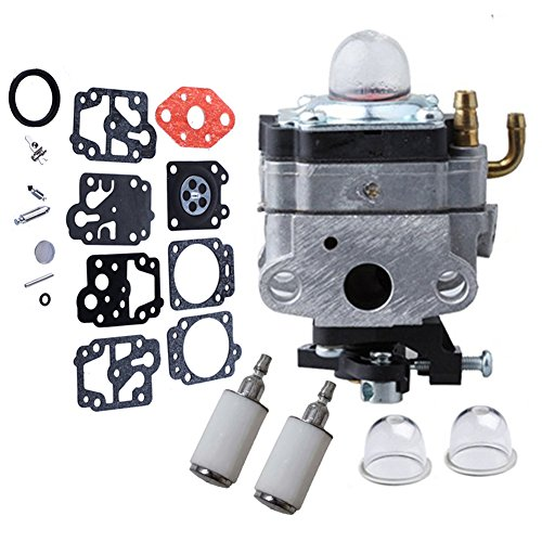 HIFROM 753-1225 Carburetor with Repair Kit Primer Bulb fuel filter for Troy-Bilt TB415CS TB465SS TB475SS TB490BC Yard Man YM21SS YM26CO YM26SS YM26SS YM26BC YM26BC YM26CS Trimmer by HIFROM