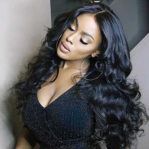"Glueless Human Hair Wigs for Black Women Full Lace Brazilian Loose Body Wave Wig with Baby Hair (26"" full lace wig body wave) Review"