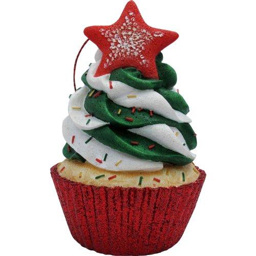 JILLSON & ROBERTS Swirl Star Top Cupcake Christmas Tree Ornament