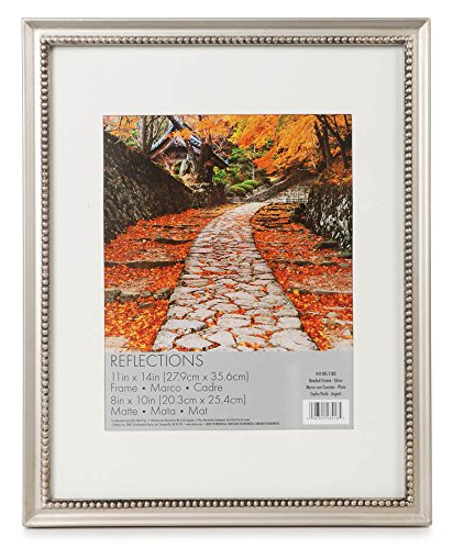 - Darice 44148S-1180 Beaded Wood Reflections Frame, 11 by 14-Inch, Silver
