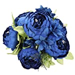 Duovlo-Artificial-Peony-Silk-Flowers-Fake-Flowers-Vintage-Wedding-Home-DecorationPack-of-1-Navy