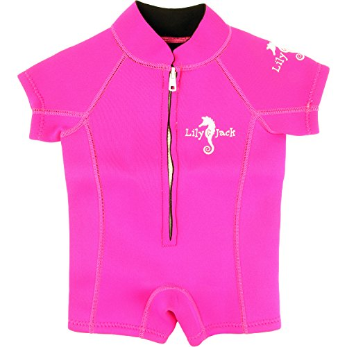 Baby Unisex Neoprene 3mm Wetsuit UV protected Swimwear for Toddlers (Pink) (XS)