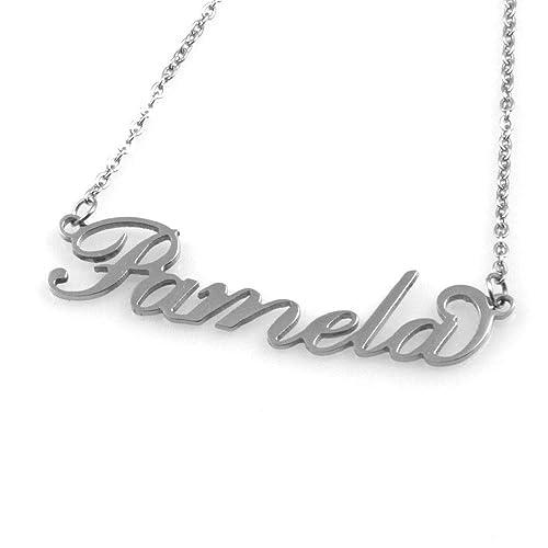 Collar con Nombre de Pamela de Acero de Las Mujeres del ...